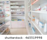 pharmacy store shelves interior ... | Shutterstock . vector #465519998