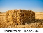 Bale Of Hay. Agriculture Farm...
