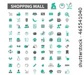 shopping mall icons | Shutterstock .eps vector #465541040