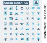 online education icons | Shutterstock .eps vector #465546704