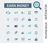 earn money icons | Shutterstock .eps vector #465546734