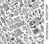 back to school supplies... | Shutterstock .eps vector #465547589