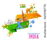 illustration of abstract indian ... | Shutterstock .eps vector #465558770