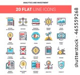 vector set of analytics and... | Shutterstock .eps vector #465559268