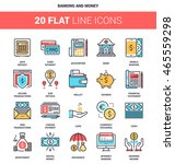 vector set of banking and money ... | Shutterstock .eps vector #465559298
