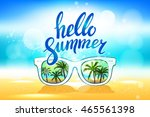 white sunglasses reflection... | Shutterstock . vector #465561398