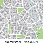 vector city or small town map... | Shutterstock .eps vector #46556164