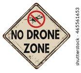 No Drone Zone Vintage Rusty...