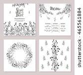 wedding printing in rustic... | Shutterstock .eps vector #465561884