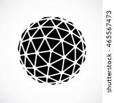 black and white faceted orb... | Shutterstock .eps vector #465567473