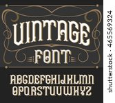 vector vintage label font on a... | Shutterstock .eps vector #465569324