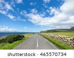rural road in the idyllic isle... | Shutterstock . vector #465570734