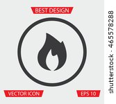 fire icon   vector illustration ...