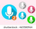 flat shadow microphone icon