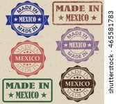 made in mexico stamp vector... | Shutterstock .eps vector #465581783