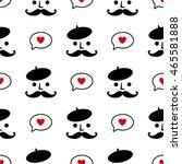 cute seamless romantice pattern | Shutterstock .eps vector #465581888