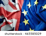 brexit uk and european flag... | Shutterstock . vector #465585029