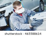repair mechanic worker with... | Shutterstock . vector #465588614