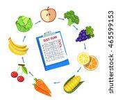 diet plan schedule. planning... | Shutterstock .eps vector #465599153