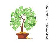 growing money tree. green cash...   Shutterstock .eps vector #465600254
