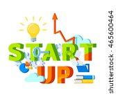 start up concept. modern tech... | Shutterstock .eps vector #465600464