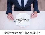 the businessman is preparing to ... | Shutterstock . vector #465603116