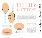 beauty facial injections design ... | Shutterstock .eps vector #465607454