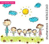 children's drawings cute vector ... | Shutterstock .eps vector #465613163