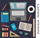 stuff for studying and business.... | Shutterstock .eps vector #465616973