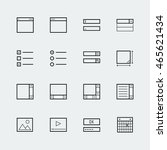 web or app form elements icon... | Shutterstock .eps vector #465621434