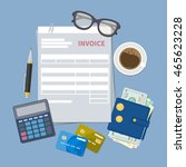 concept of invoice payment.... | Shutterstock .eps vector #465623228