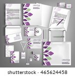 trendy geometric corporate... | Shutterstock .eps vector #465624458