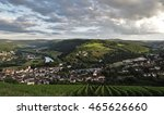 a view over the town saarburg... | Shutterstock . vector #465626660