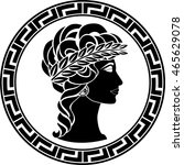 profile of ancient woman.... | Shutterstock .eps vector #465629078
