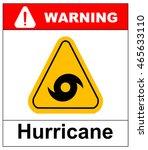 hurricane warning sign | Shutterstock .eps vector #465633110