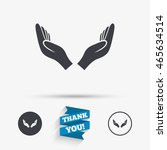 pray hands sign icon. religion... | Shutterstock .eps vector #465634514