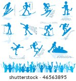 cute vector icons of winter... | Shutterstock .eps vector #46563895