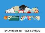 school items background ... | Shutterstock .eps vector #465639509