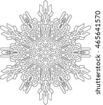 outlines of snowflake in mono... | Shutterstock .eps vector #465641570