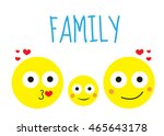happy family round smiles ... | Shutterstock .eps vector #465643178