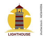 lighthouse logo design template | Shutterstock .eps vector #465644006