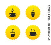 coffee cup icon. hot drinks...   Shutterstock .eps vector #465645638