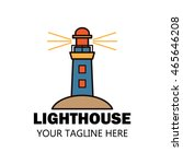 lighthouse logo design template | Shutterstock .eps vector #465646208