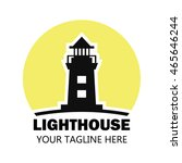 lighthouse logo design template | Shutterstock .eps vector #465646244