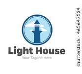 lighthouse logo design template | Shutterstock .eps vector #465647534