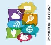 social network concept... | Shutterstock .eps vector #465648824