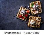 Three Various Belgian Waffles...
