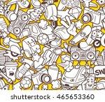 graffiti seamless pattern with... | Shutterstock .eps vector #465653360