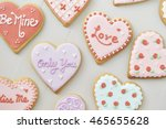 heart cookies | Shutterstock . vector #465655628