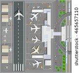 airport passenger terminal top... | Shutterstock .eps vector #465657110